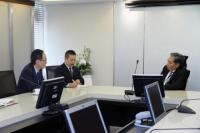 Picture of Finance Minister Welcomed the Representatives from the Financial Services Agency of Japan