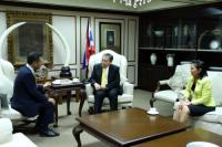 Picture of Finance Minister Welcomed President of the JETRO Bangkok